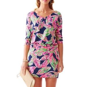 Lilly Pulitzer Cara Dress Bright Navy EUC S